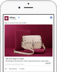 online ad example